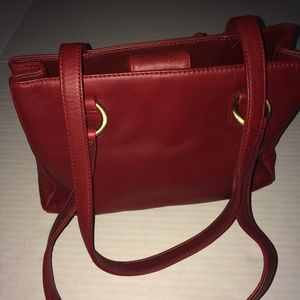 St Johns Bay Red Leather Purse